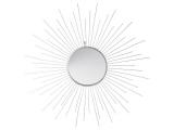 miroir en metal forme soleil 66 cm