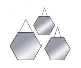 miroir hexagone avec chainette x3 ohexa