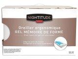 oreiller ergonomique gel 45x55 cm nightitude premium