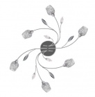 plafonnier 6 lumieres adriana coloris argente