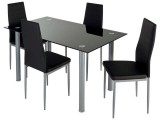 set table 4 chaises featuring