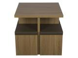 set table 4 poufs karl