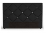 tete de lit 165 cm diamond 2 coloris noir