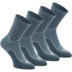 2 paires de chaussettes de randonnee nature tiges haute adul