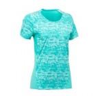 tee-shirt manches courtes de randonnee en montagne mh500 fem