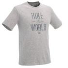 tee shirt randonnee nature homme nh500 gris chine quechua