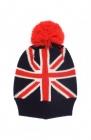 bonnet drapeau anglais avec pompon