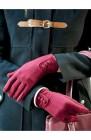 gants femme avec boutonniere