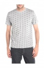 tee-shirt velo homme gris clair mouline