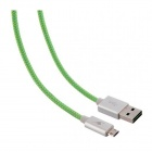 photo Câble micro USB réversible BLUESTORK 1,2m 2,4A vert