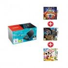 console de jeux nintendo 2dsxl new noir et turquoise sonic boom le feu et la glace monster hunte