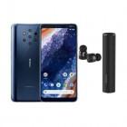 pack smartphone nokia 9 pureview 128 go bleu earbuds