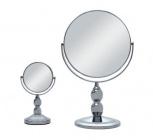 set de 2 miroirs sur pied okoia chrome