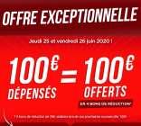 photo 100€ REMBOURSES POUR 100€ D'ACHAT