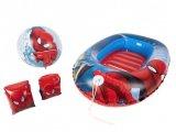 bateau gonflable brassards et ballon spiderman