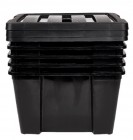 box de rangement 30 l noir x5