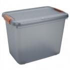 box de rangement a couvercle xxl 69 l gris