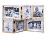 cadre photo depliable bois naturel et blanc