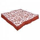 coussin de sol carre imprime cerises rouges