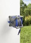 devidoir pour jardin tuyau darrosage et embouts bleu gris