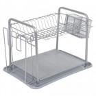 egouttoir a vaisselle metallique gris