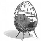 fauteuil de jardin egg gris anthracite