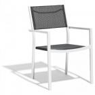fauteuil empilable oslow blanc et gris anthracite