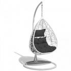 fauteuil suspendu chill blanc et gris anthracite