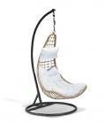 fauteuil suspendu vegas naturel noir et blanc
