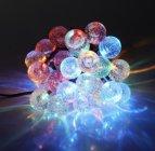 guirlande solaire de 10 boules acrylique multicolore