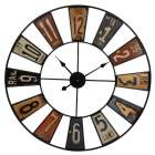 horloge xl multicolore design vintage