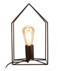 lampe a poser forme maison armature metallique noire