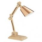 lampe bois articulee couleur cuivre et naturel