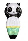 matelas gonflable forme panda noir et blanc
