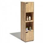 meuble 4 etageres bibliotheque naturel toronto