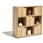 meuble 9 cases et 5 portes bibliotheque naturel toronto