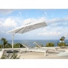 parasol deporte noa carre inclinable gris clair
