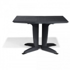 table de jardin pliante 4 personnes gris anthracite