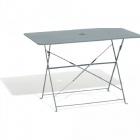 table de jardin rectangulaire pliante 4 personnes metal gris