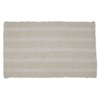 tapis deco chenille beige et blanc