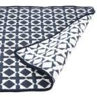 tapis reversible bicolore bleu et blanc