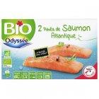 2 paves de saumon atlantique bio surgeles bio odyssee