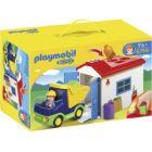 camion avec garage playmobil
