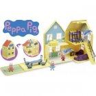 maison de luxe avec 2 personnages peppa pig