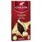 tablette de chocolat noir fusion nougat cote dor