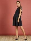 robe de grossesse avec empiecement dentelle