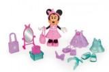 pack 2 figurines 15 cm minnie fashionistas shopping voyage