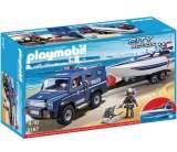 playmobil city action - fourgon et vedette de police