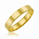 alliance en or jaune ruban 4 mm