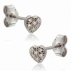 boucles doreilles en or gris diamants
